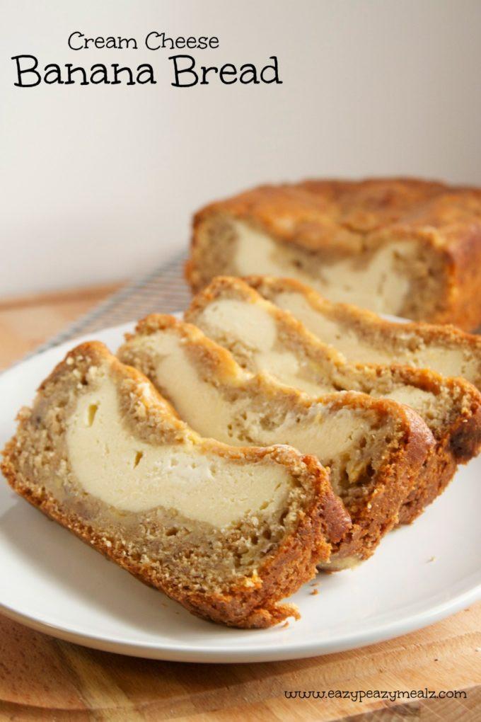 Banana Cream Cheese Bread  Cream Cheese Banana Bread Eazy Peazy Mealz