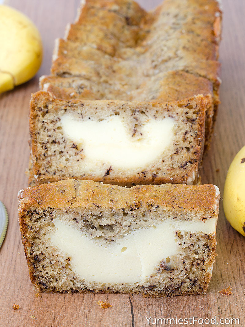 Banana Cream Cheese Bread  Cream Cheese Banana Bread Recipe from Yummiest Food Cookbook