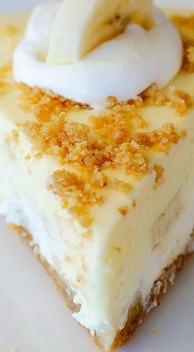 Banana Cream Pie Graham Cracker Crust  Banana Cream Pie Cheesecake Recipe