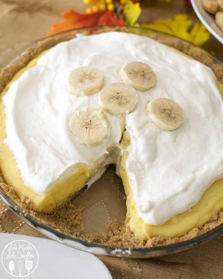 Banana Cream Pie Graham Cracker Crust  Banana Cream Pie Like Mother Like Daughter
