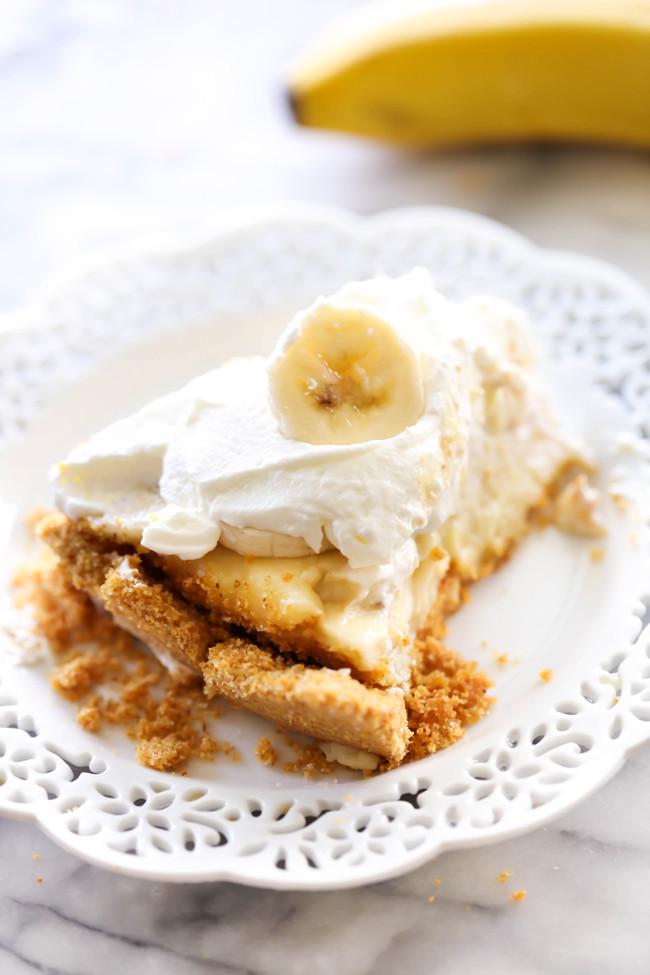 Banana Cream Pie Graham Cracker Crust  Best Ever Banana Cream Pie Chef in Training