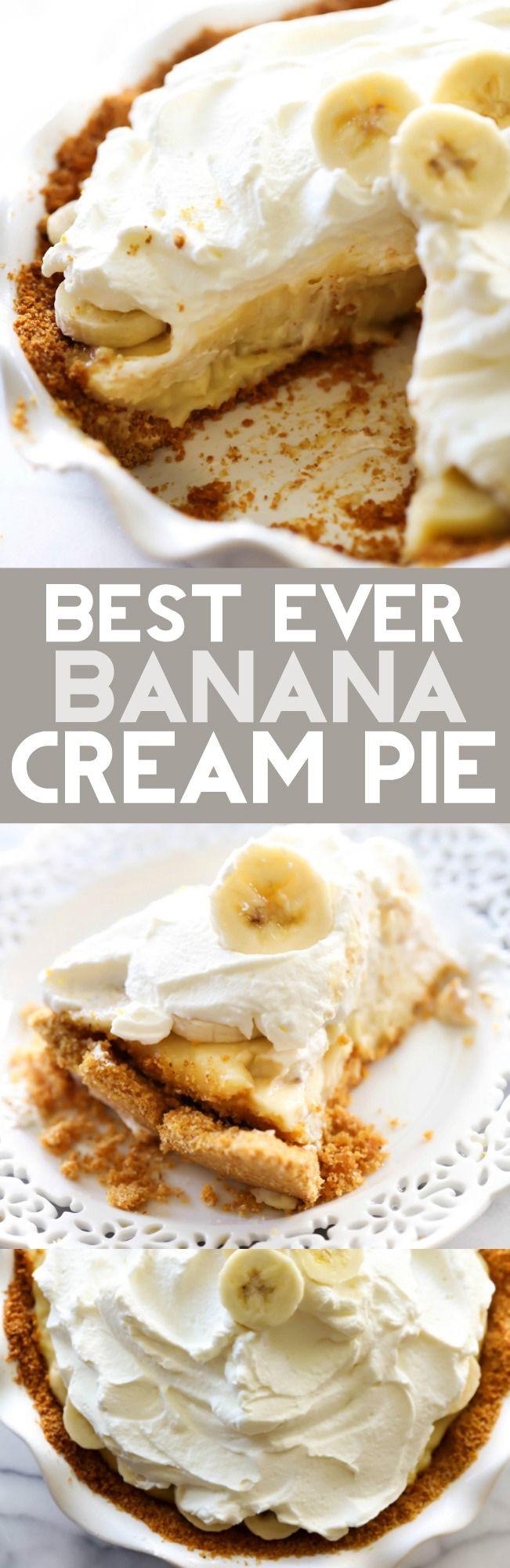 Banana Cream Pie Graham Cracker Crust  Best Ever Banana Cream Pie Recipe