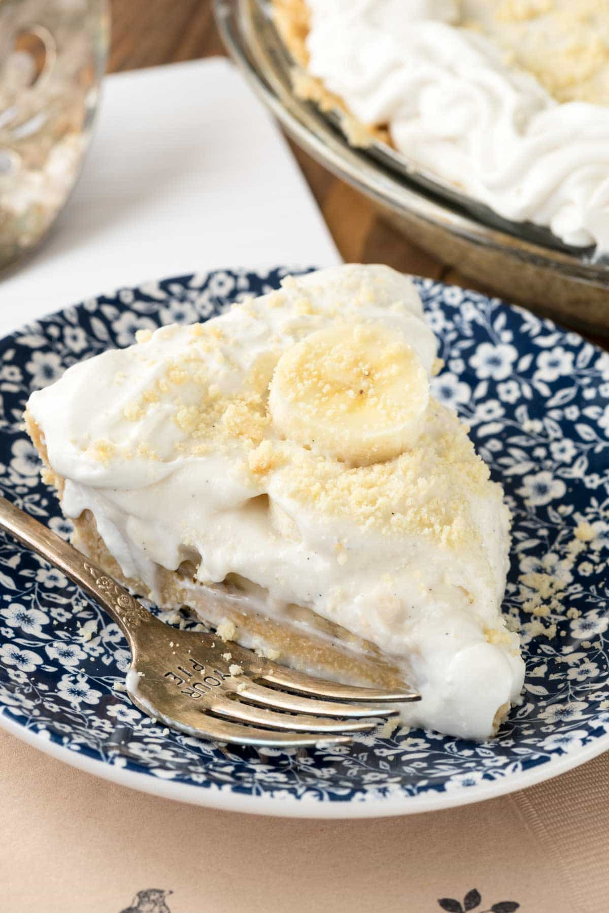 Banana Cream Pie With Pudding  Old Fashioned Banana Pudding Pie Crazy for Crust