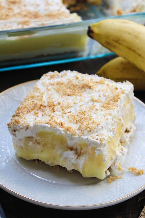 Banana Desserts Easy  No Bake Banana Pudding Layer Dessert High Heels and Grills