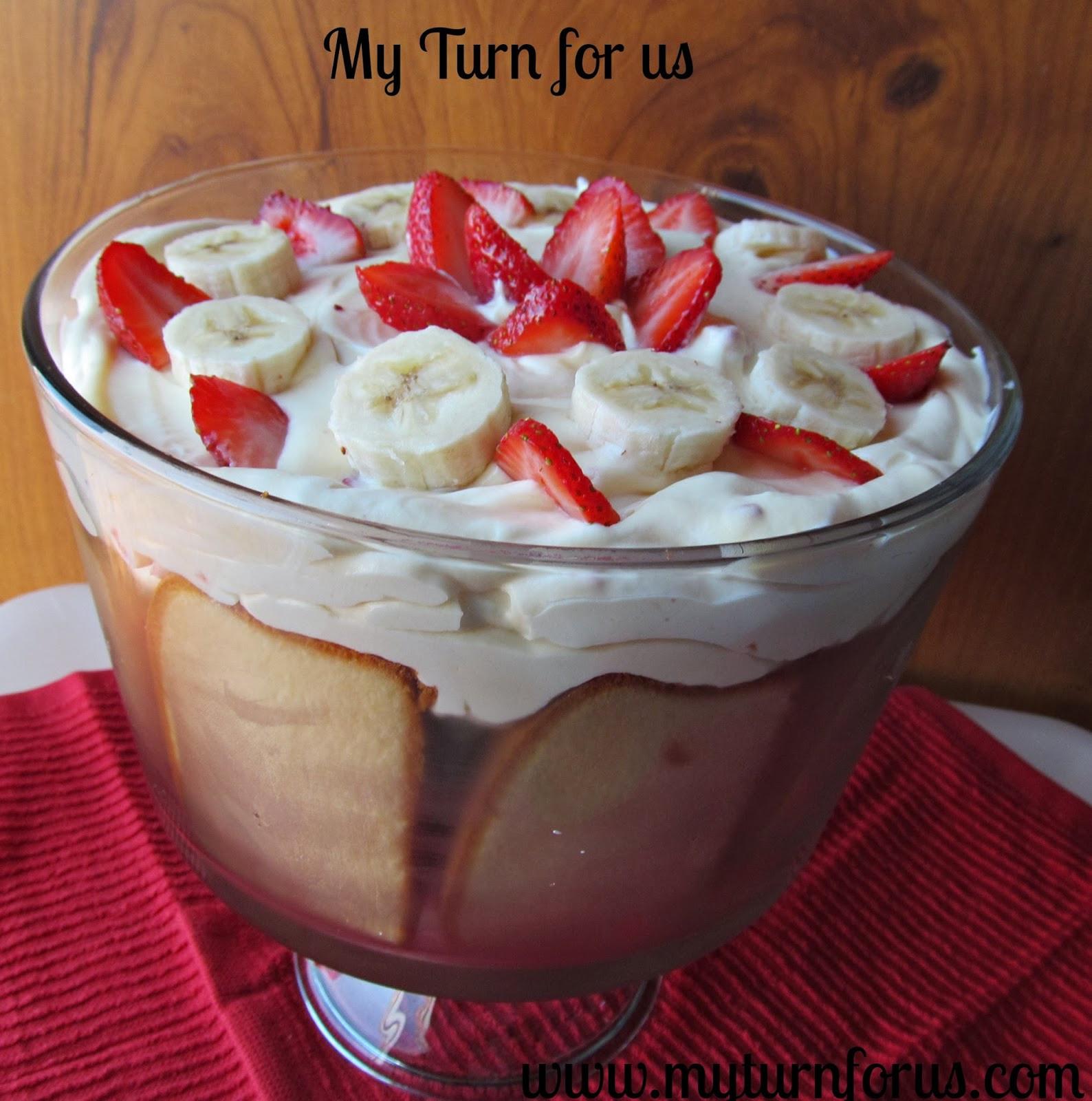 Banana Desserts Easy  Strawberry Banana Trifle Dessert