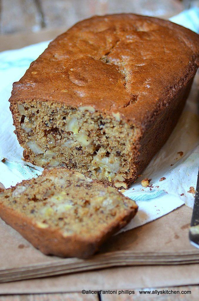 Banana Nut Bread With Brown Sugar  chunkie banana nut brown sugar bread