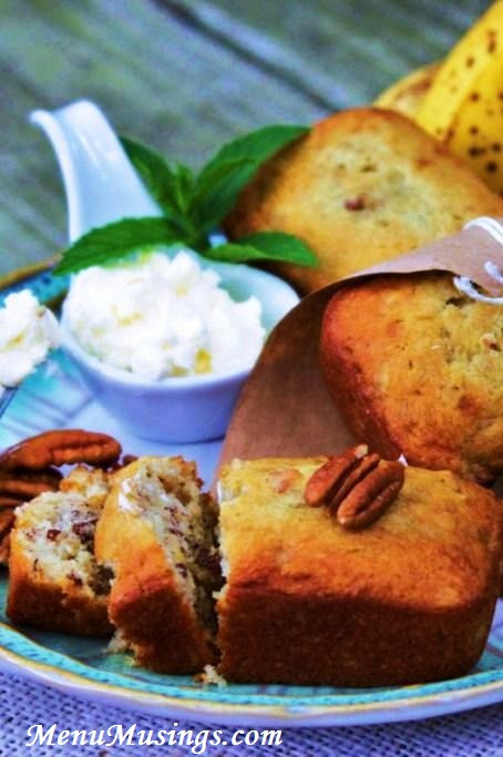 Banana Nut Bread With Sour Cream  Menu Musings of a Modern American Mom Sour Cream Banana