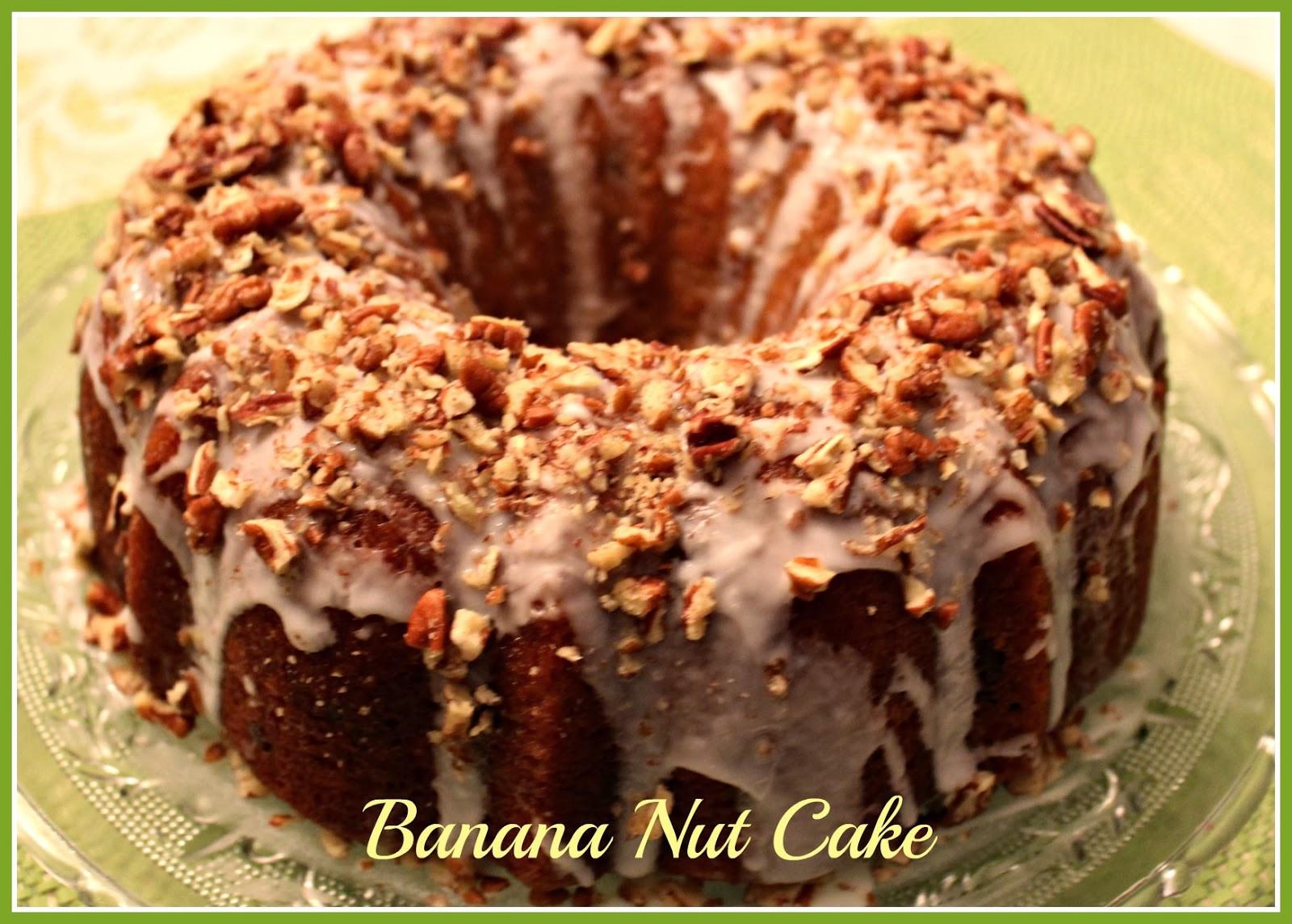 Banana Nut Cake  Sweet Tea and Cornbread Banana Nut Cake