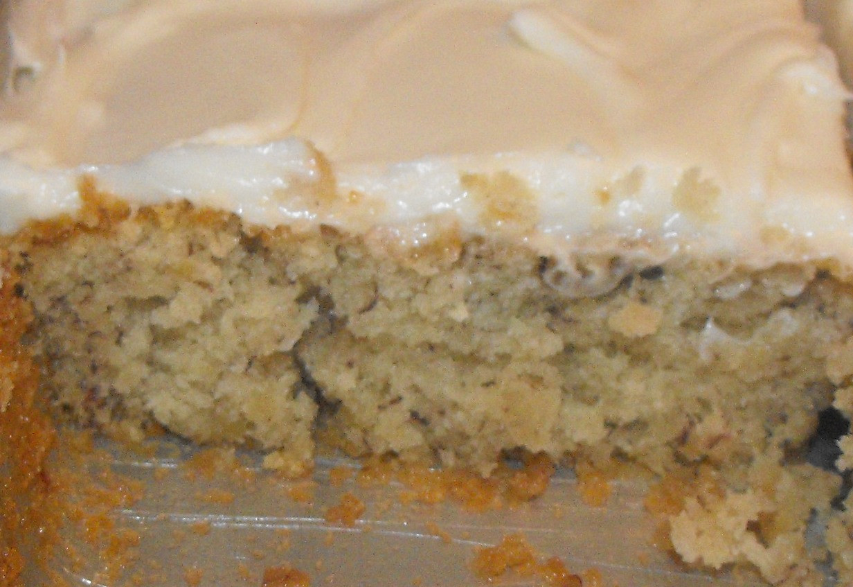 Banana Nut Cake  Secrets of a Southern Kitchen Banana Nut Cake with Cream