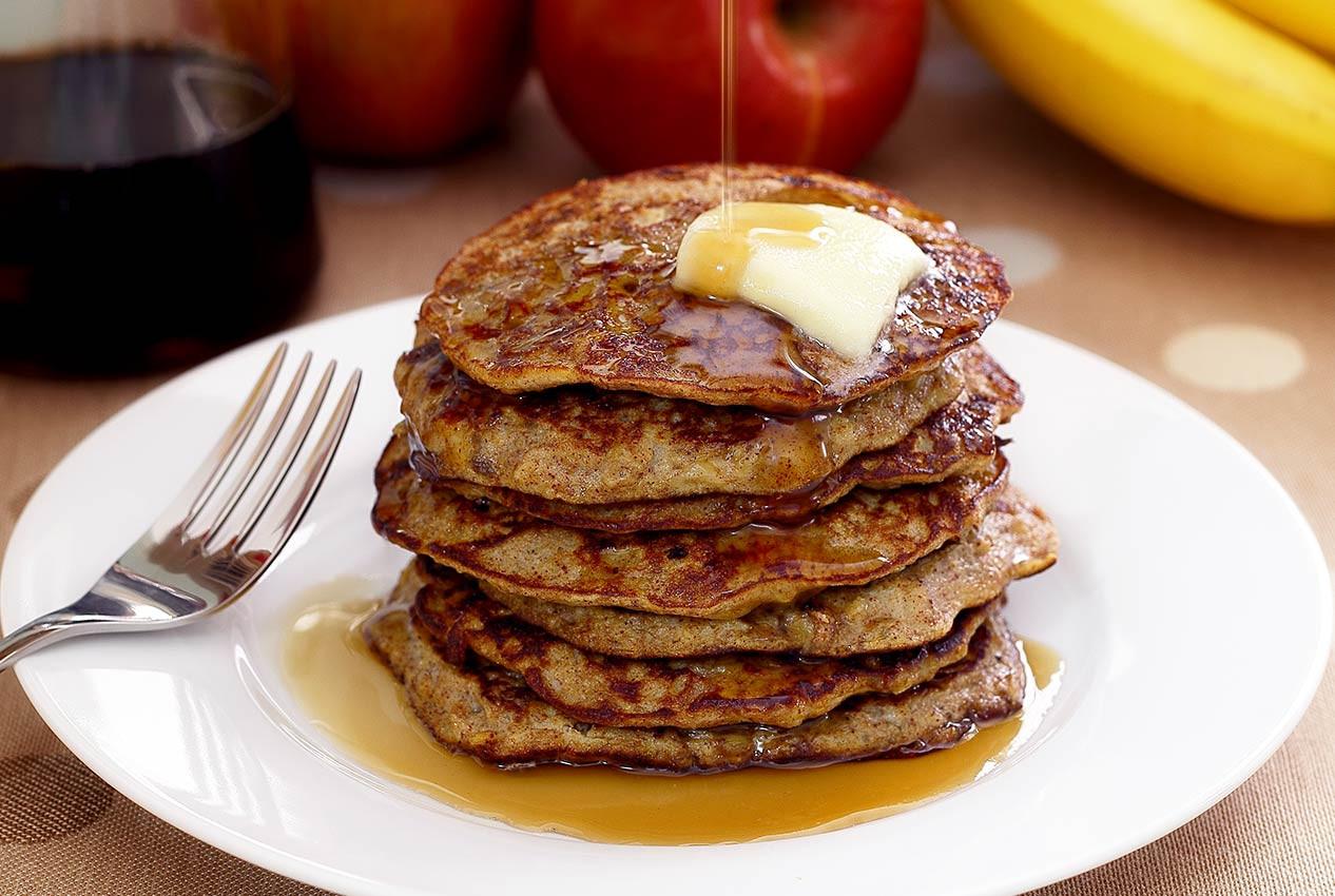 Banana Pancakes No Flour  Paleo Apple Cinnamon Pancakes Recipe