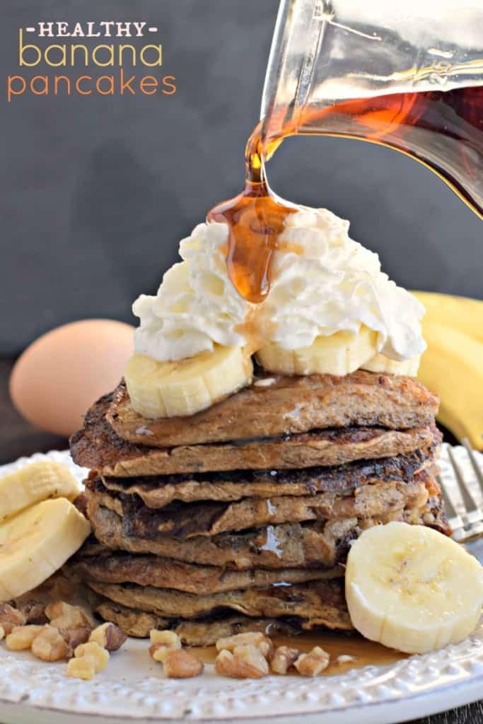 Banana Pancakes No Flour  Healthy Banana Nut Pancakes Shugary Sweets