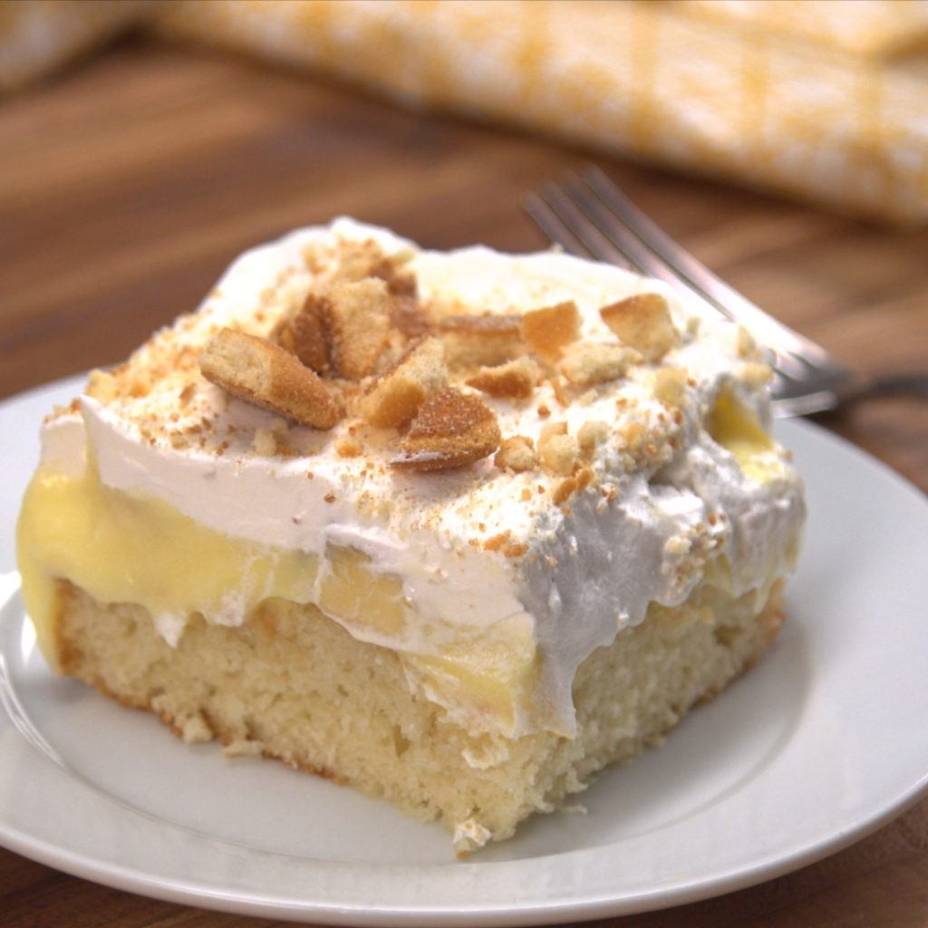Banana Poke Cake  Banana Poke Cake Recipe & Video