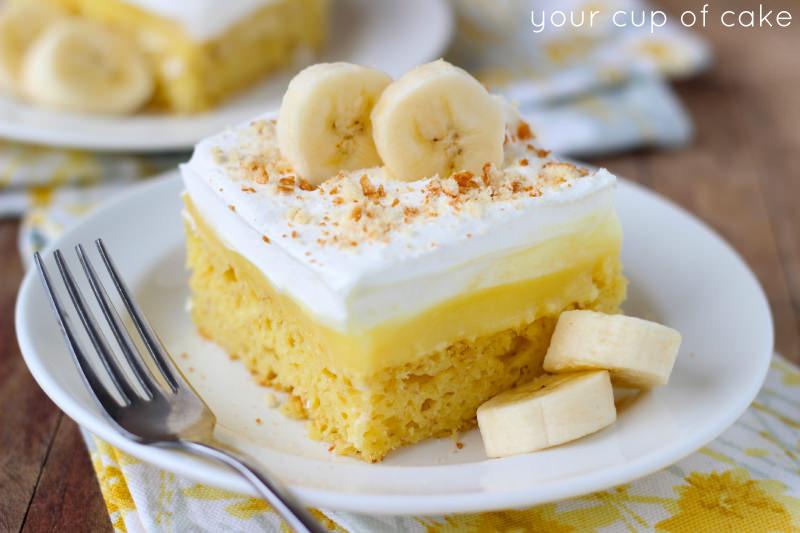 Banana Poke Cake  Easy Banana Pudding Cake Your Cup of Cake