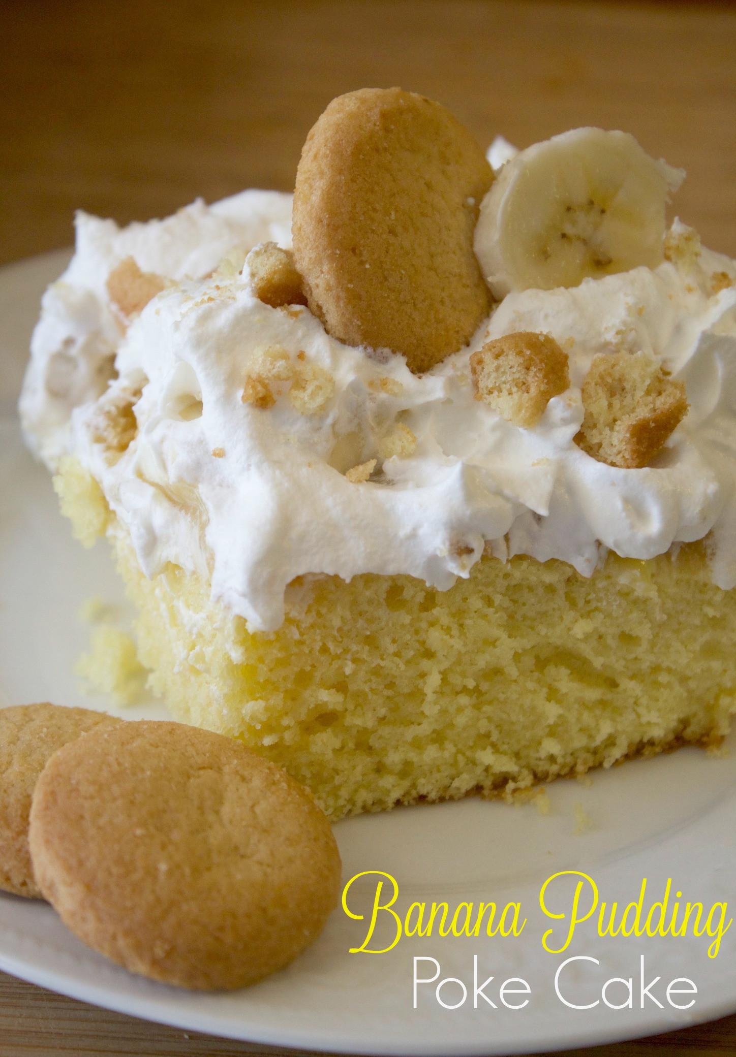 Banana Poke Cake  The Best Banana Pudding Poke Cake Recipe Every