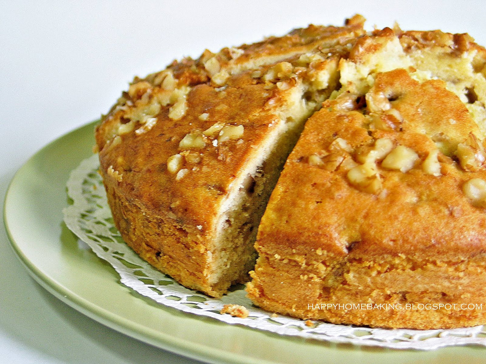 Banana Walnut Cake  Happy Home Baking Afternoon Tea