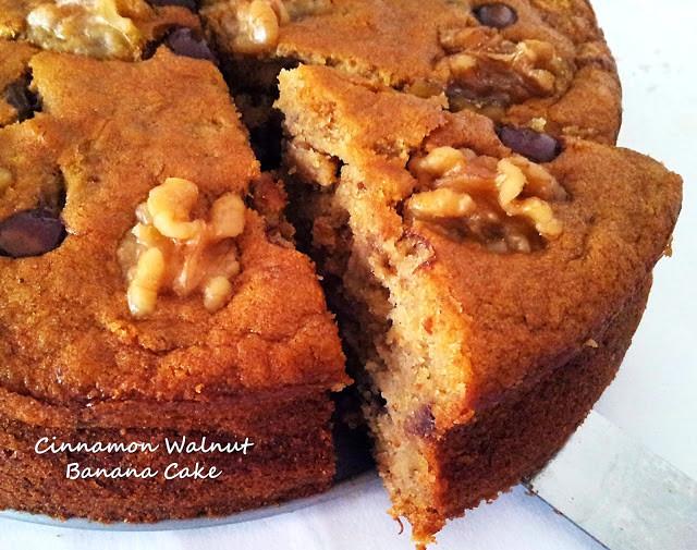Banana Walnut Cake  Little Joy Factory Moist Cinnamon Walnut Banana Cake