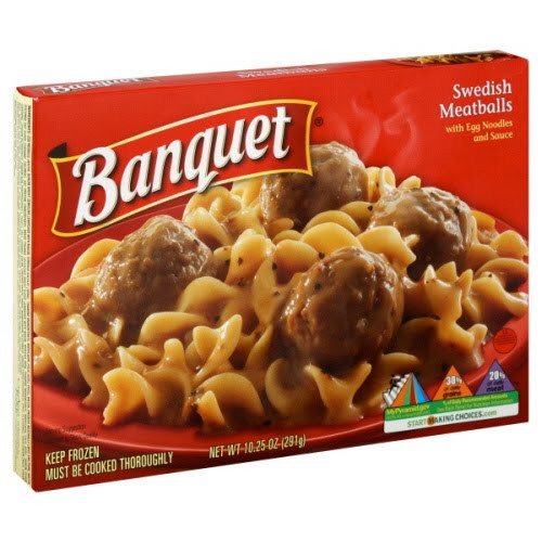 Banquet Frozen Dinners  Dusty Us Diaries Banquet Frozen Dinners Swedish Meatballs