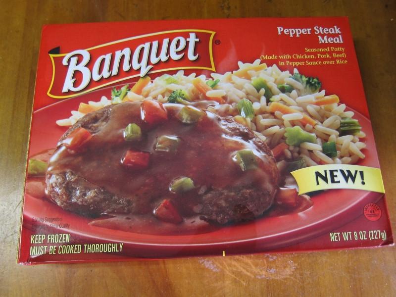 Banquet Frozen Dinners  Frozen Friday Banquet Pepper Steak Meal