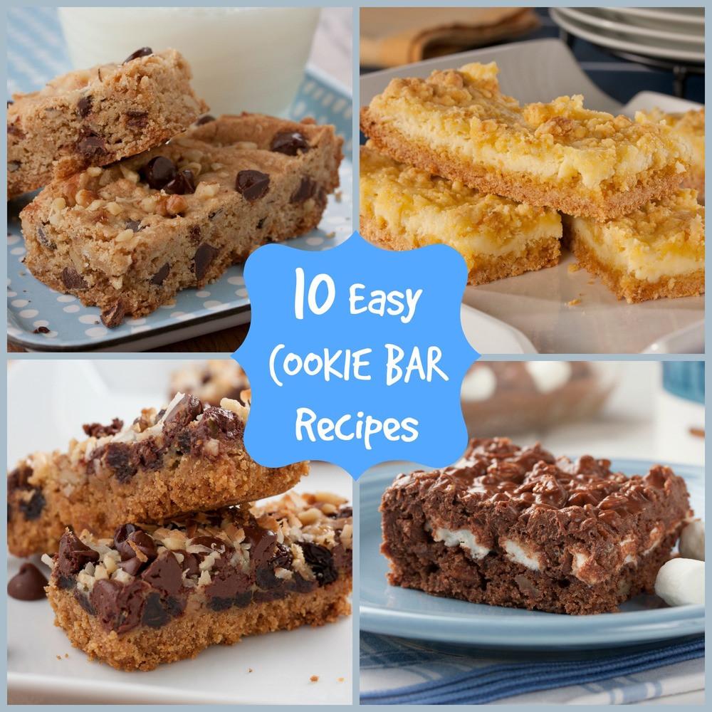 Bar Cookies Recipe  10 Easy Cookie Bar Recipes
