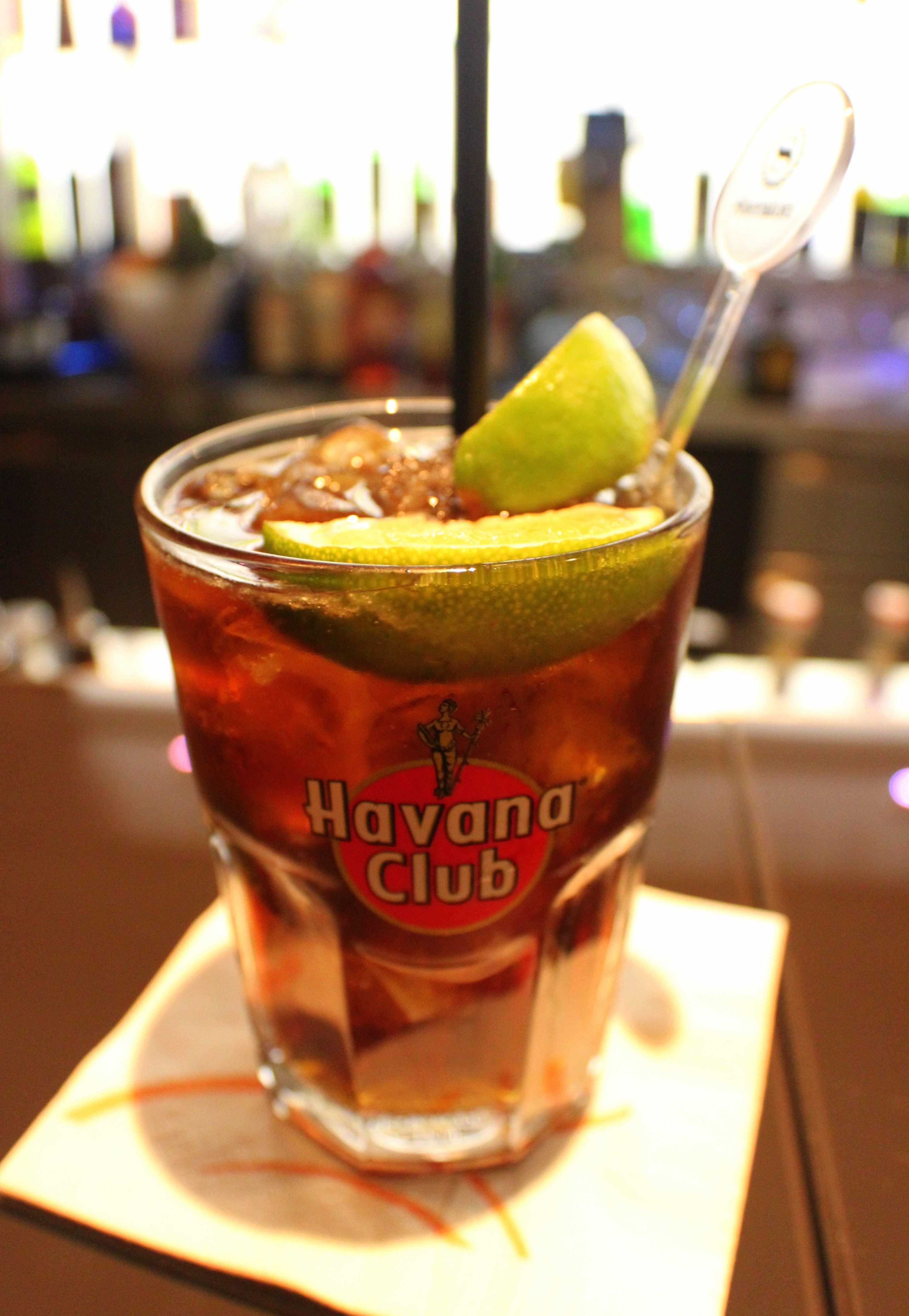 Bar Drinks With Rum  Havana Club night L a Cubana Cocktail & Cigar bar