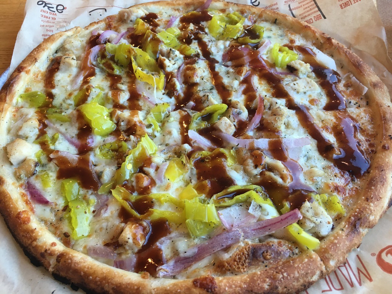 Barbecue Chicken Pizza  All smiles at Blaze Pizza