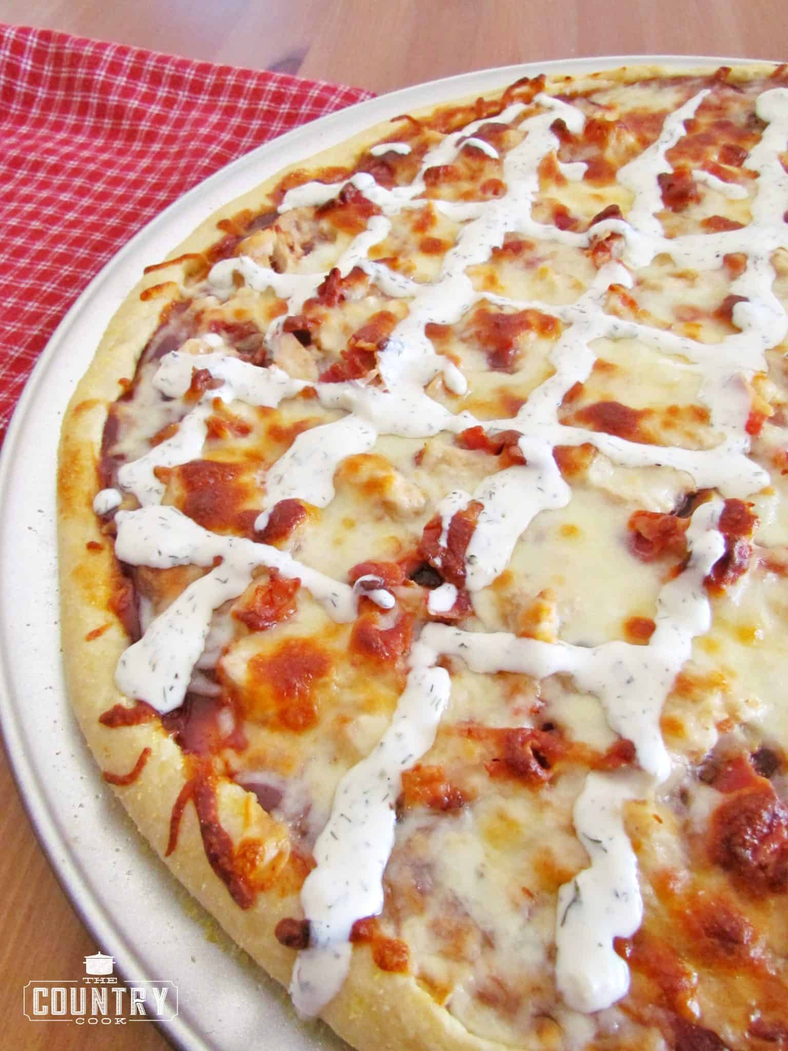 Barbecue Chicken Pizza  BBQ Chicken Pizza The Country Cook