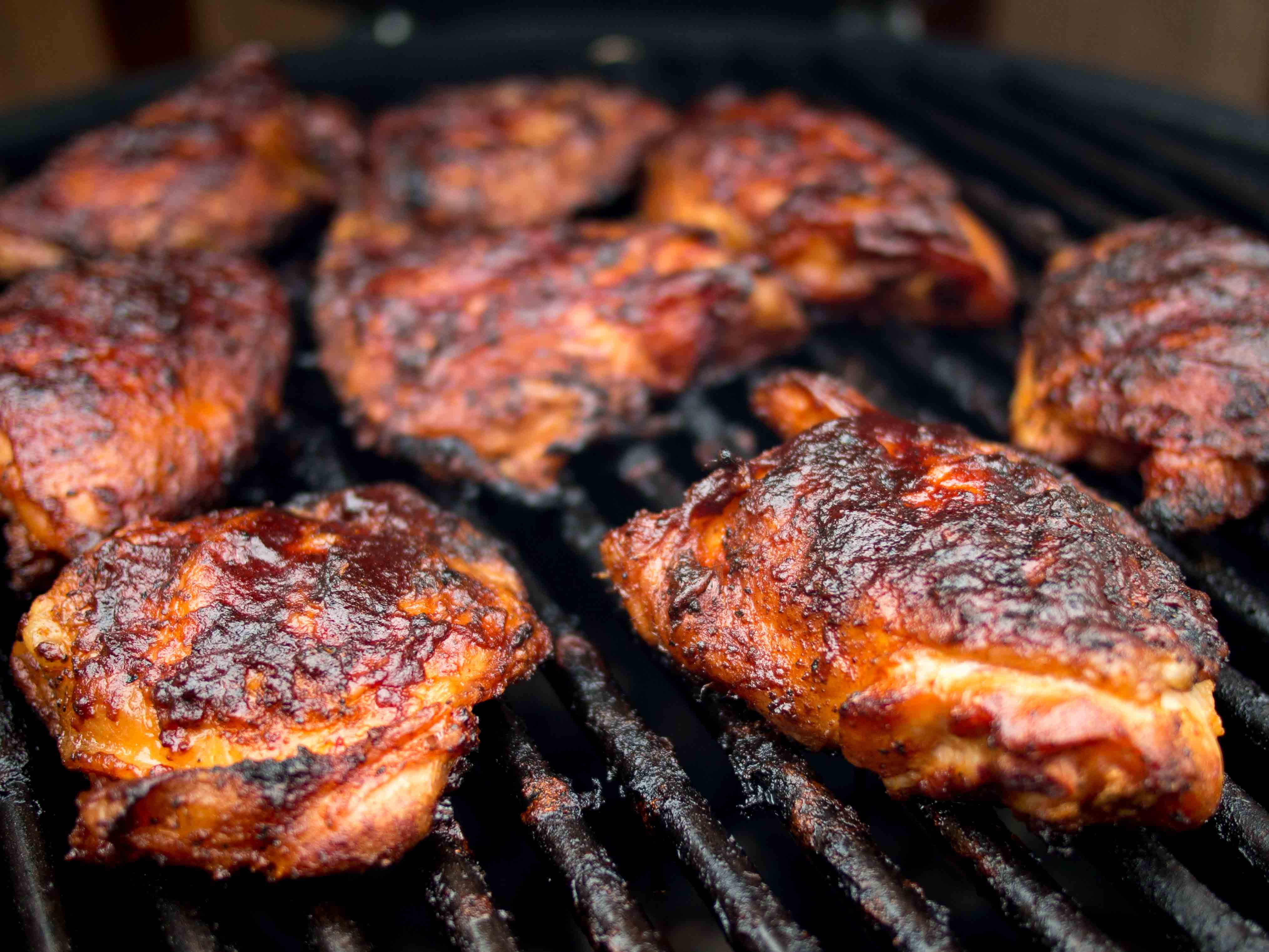 Barbecue Chicken Thighs  Honey Hog Barbecue Sauce v3 0 Food & Fire