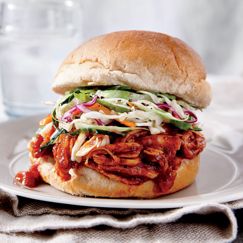 Barbecued Chicken Sandwiches  coleslaw for bbq sandwich