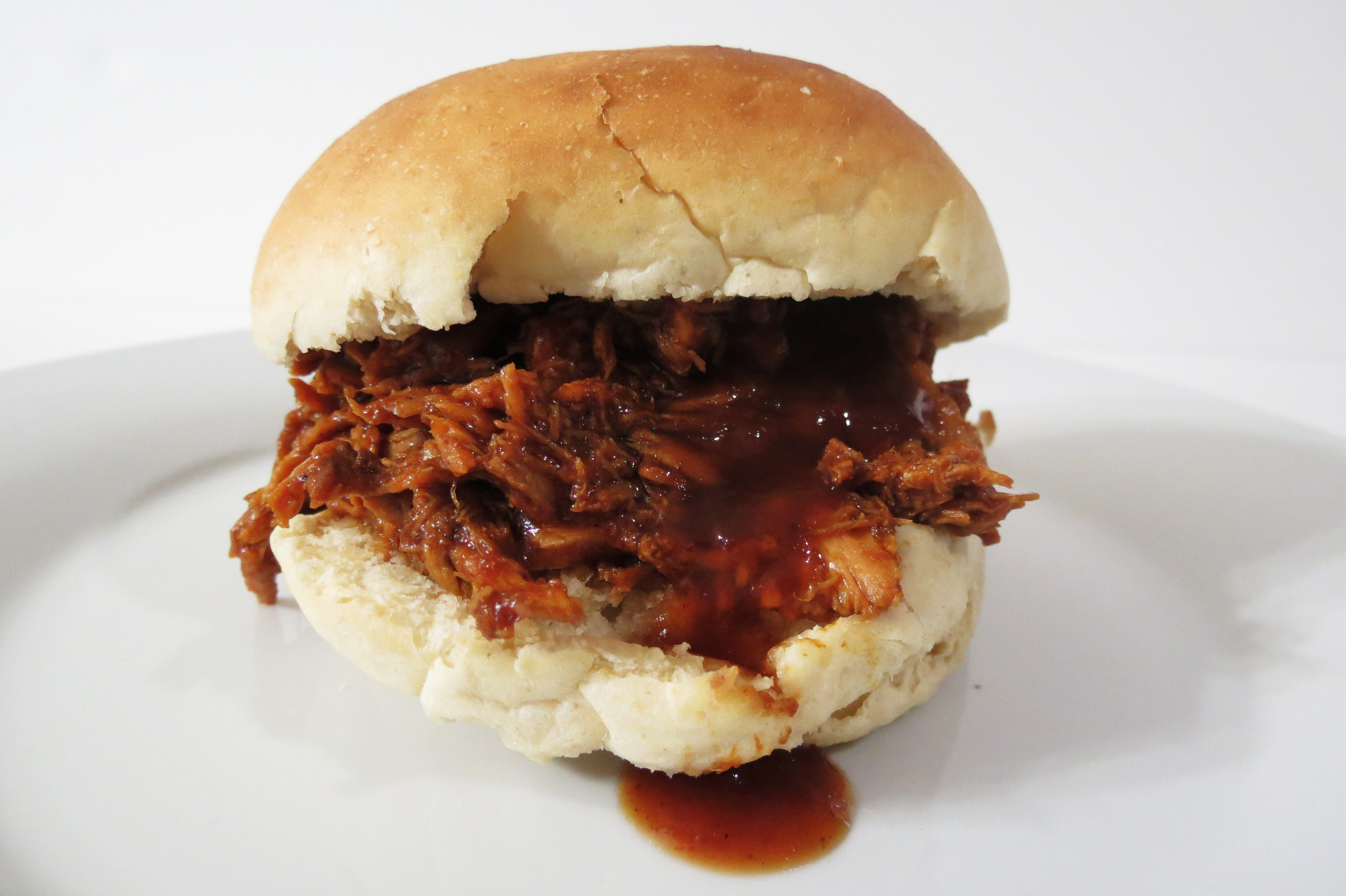 Barbecued Chicken Sandwiches  Shredded Barbecue Chicken and Homemade Rolls