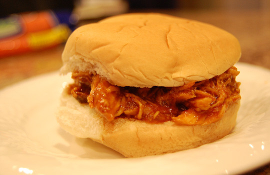 Barbecued Chicken Sandwiches  BBQ Chicken Sandwiches in the Slow Cooker Eat at Home