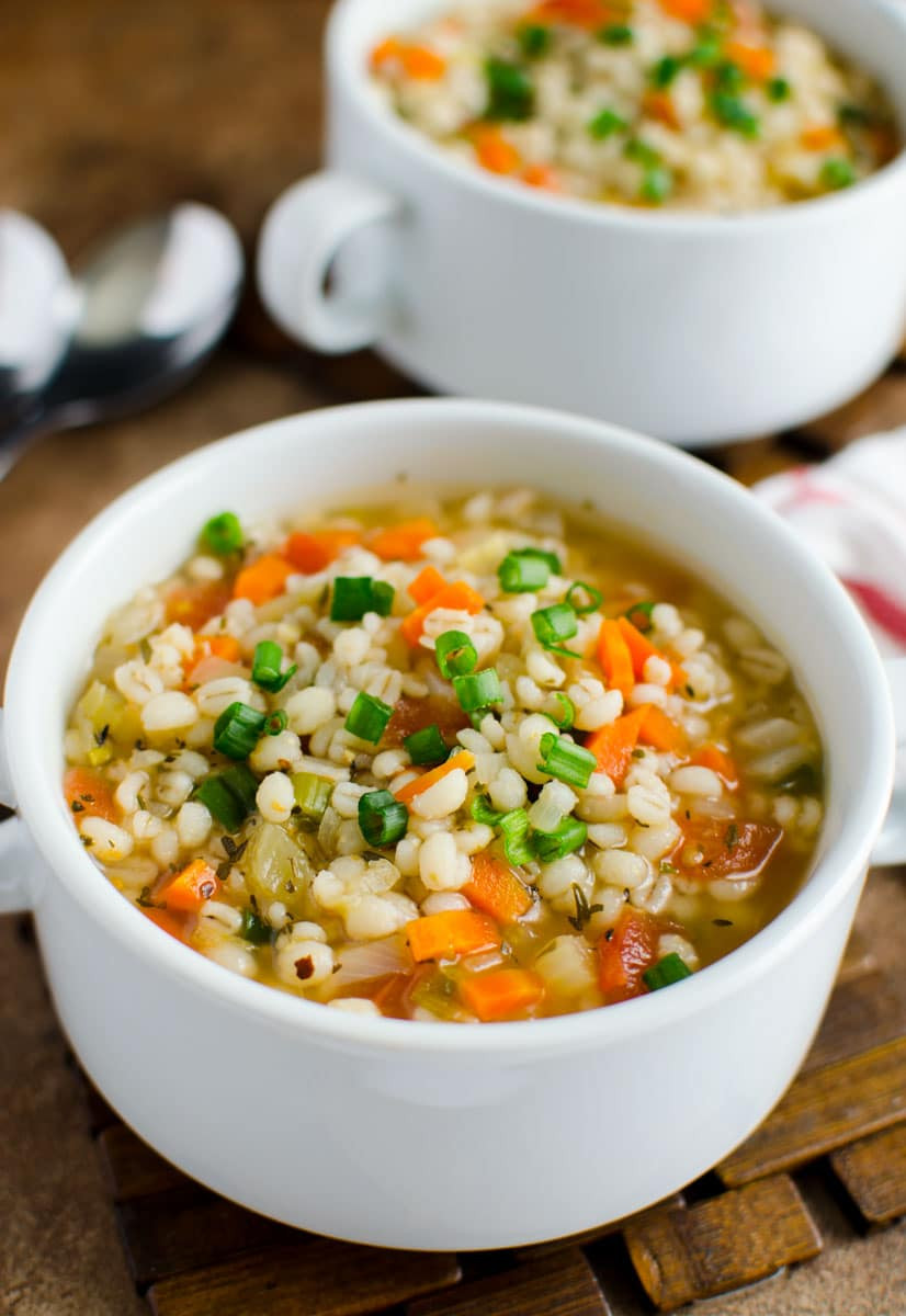 Barley Soup Recipes  Hearty Healthy Chicken and Barley soup