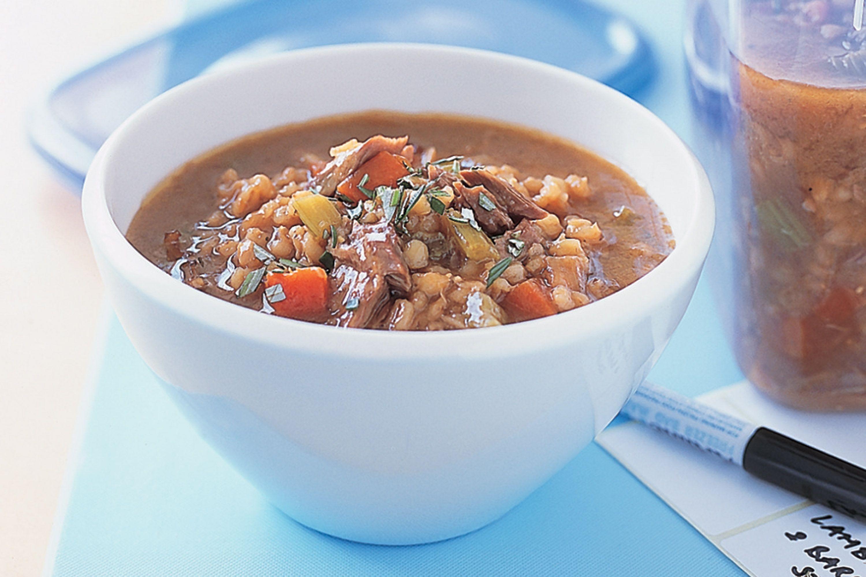 Barley Soup Recipes  beef shank barley soup