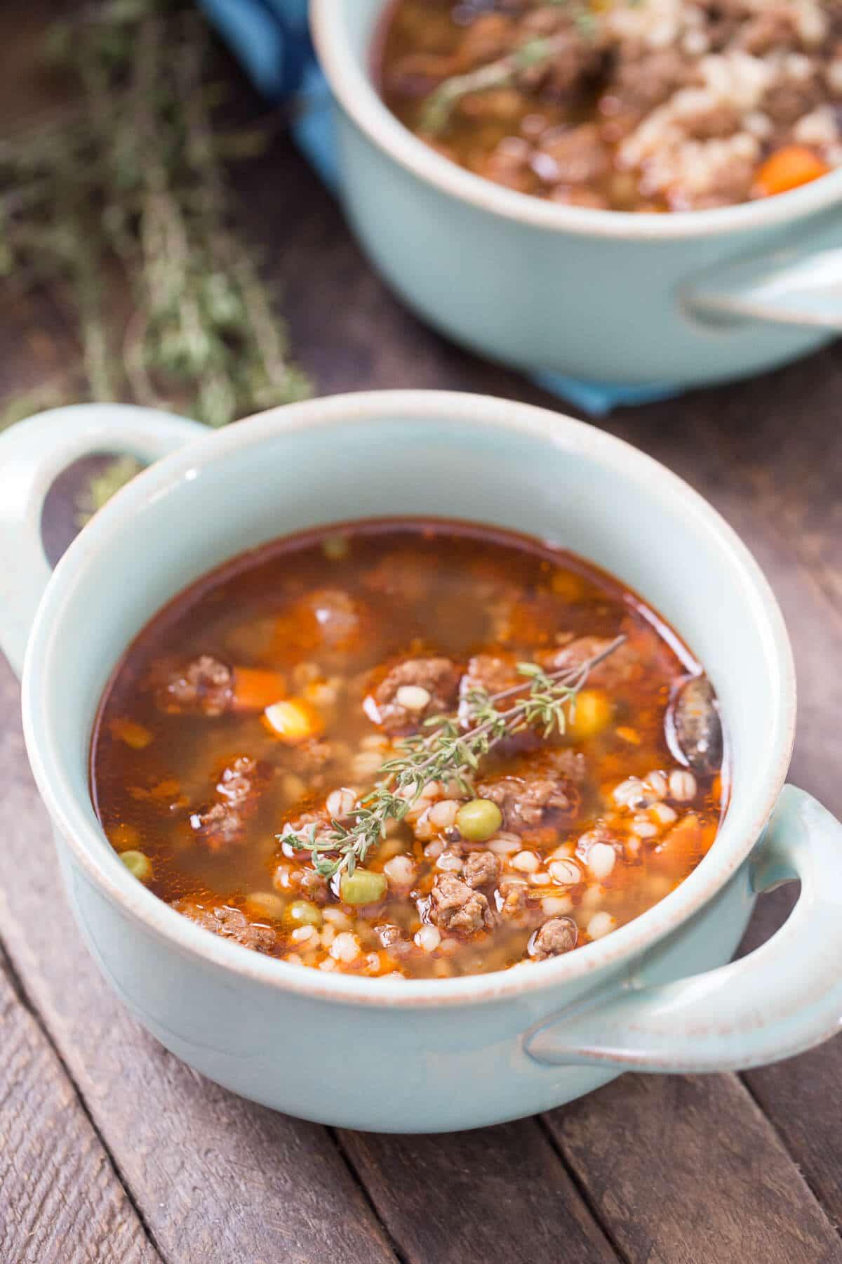 Barley Soup Recipes  Slow Cooker Beef and Barley Soup Recipe LemonsforLulu