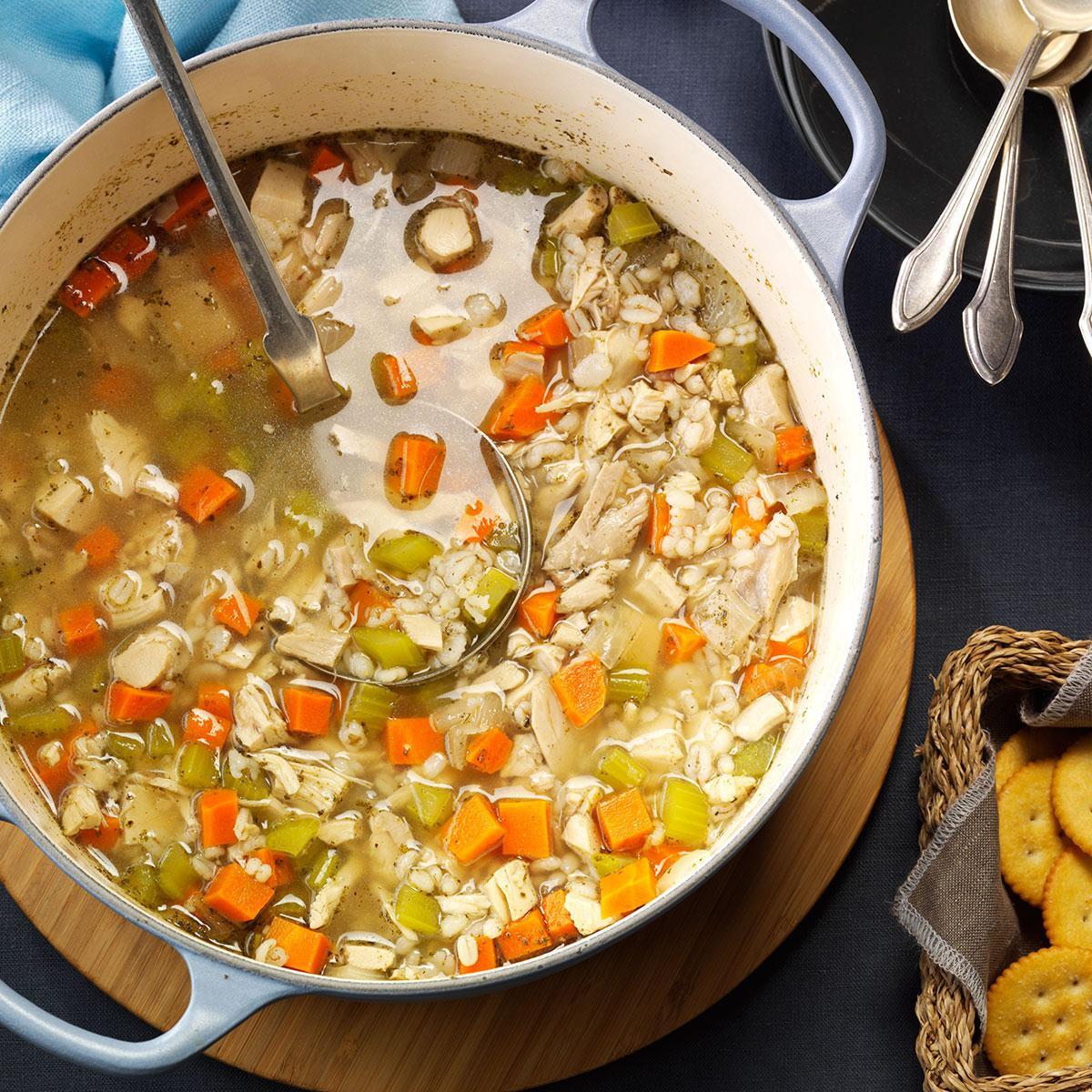 Barley Soup Recipes  Chicken Barley Soup Recipe