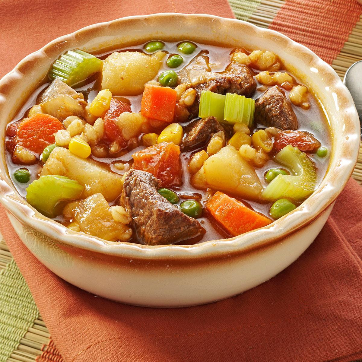 Barley Soup Recipes  Ve able Beef Barley Soup Recipe
