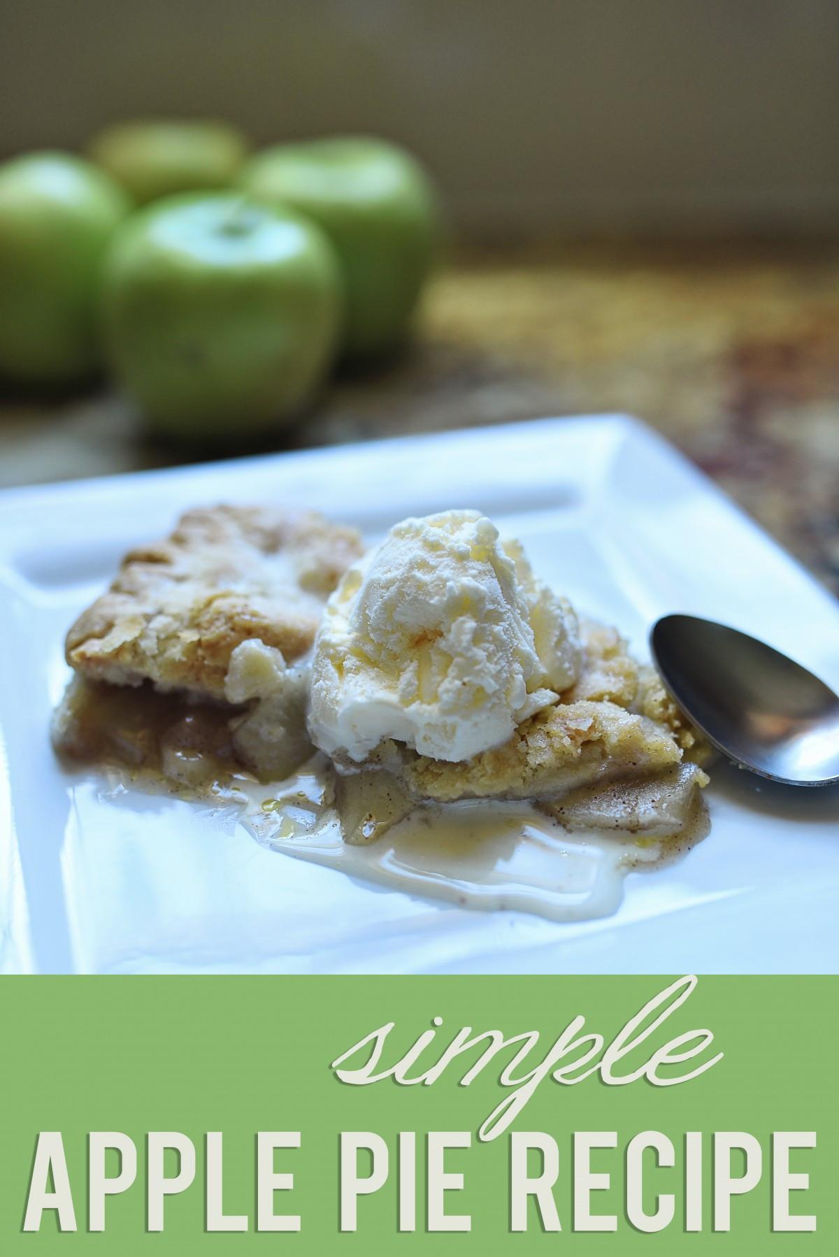 Basic Apple Pie Recipes  Simple Apple Pie Recipe Giveaway
