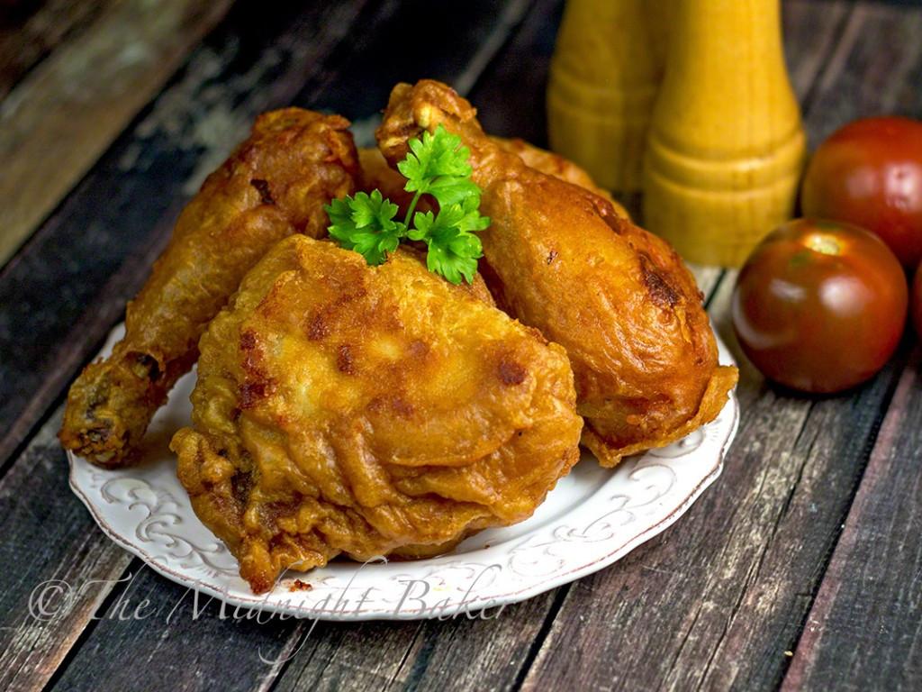 Batter Fried Chicken  Beer Batter Dipt Fried Chicken The Midnight Baker