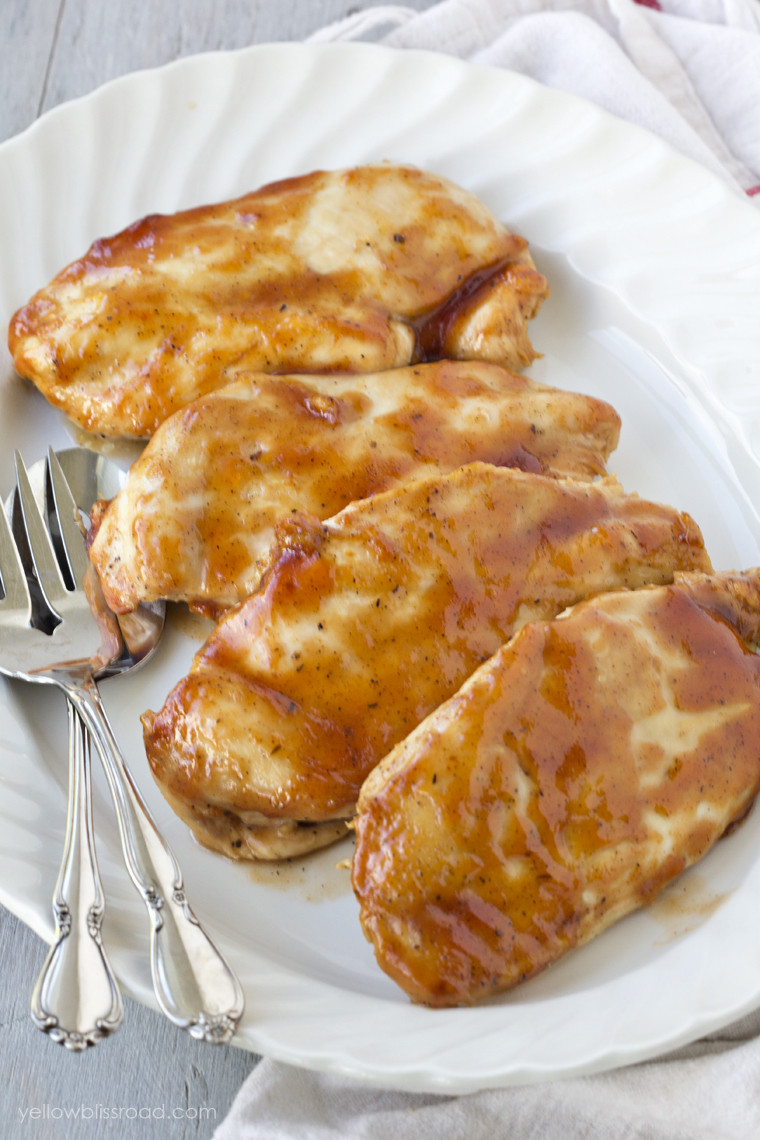 Bbq Baked Chicken  Baked Barbecue Chicken Yellow Bliss Road