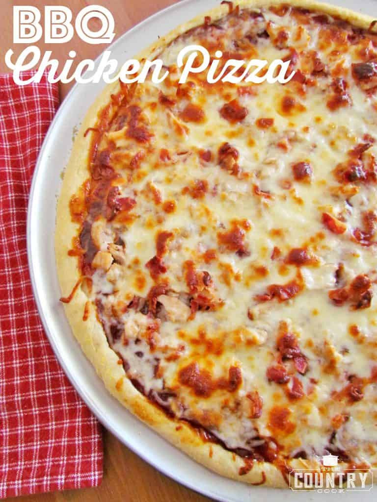 Bbq Chicken Pizza  BBQ Chicken Pizza The Country Cook