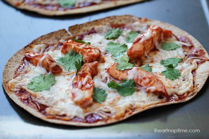 Bbq Chicken Pizza Recipe  Easy BBQ chicken pizza recipe I Heart Nap Time