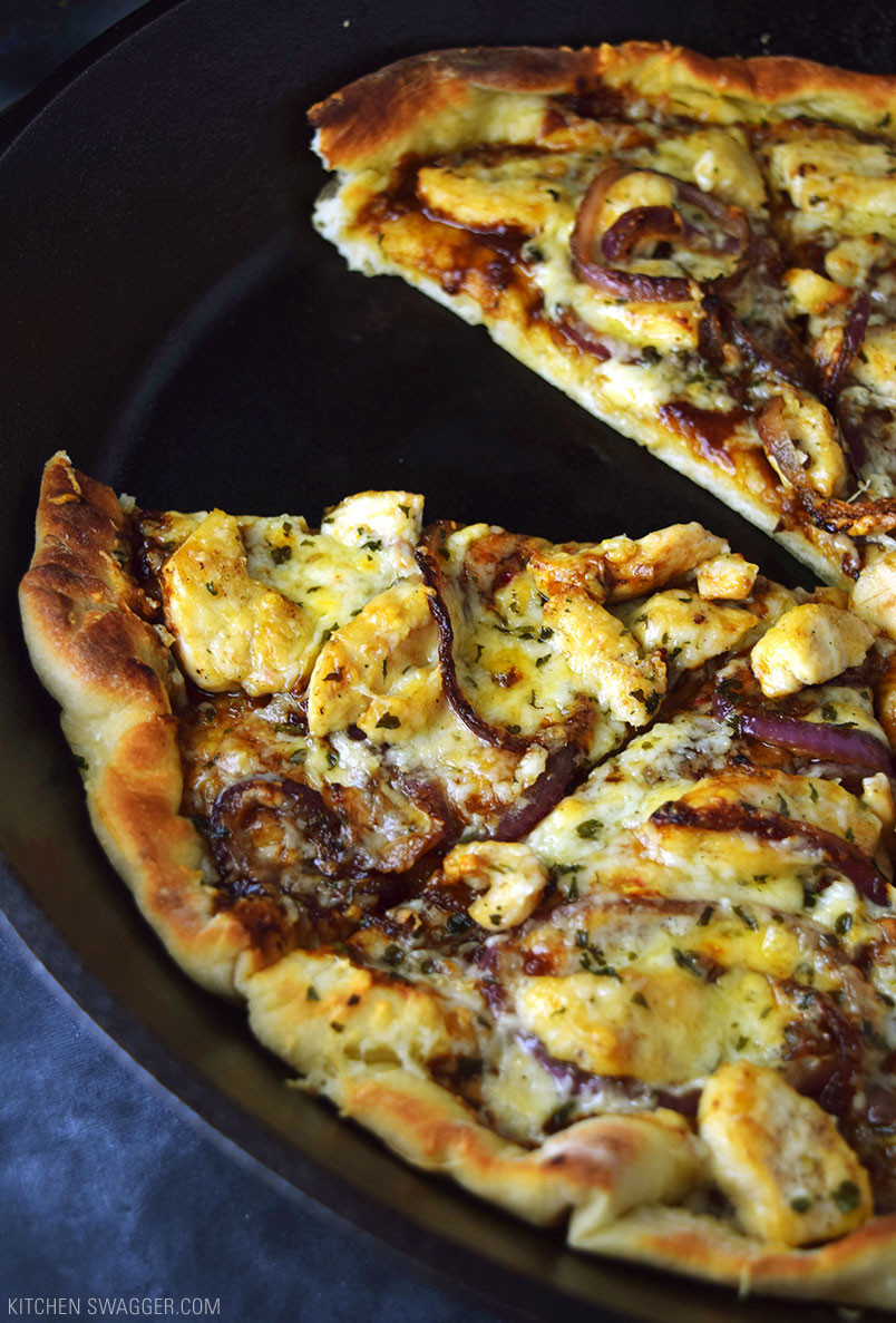Bbq Chicken Pizza Recipe  Skillet BBQ Chicken Pizza Recipe