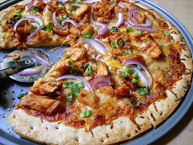 Bbq Chicken Pizza  BBQ Chicken Pizzas Bud Bytes