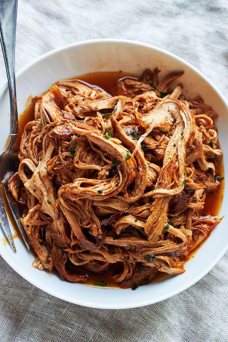 Bbq Pork Loin Slow Cooker  Slow Cooker Honey Garlic BBQ Pork Tenderloin — Eatwell101