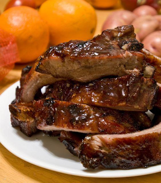 Bbq Pork Spare Ribs  Barbecue Pork Ribs Baby Back or Spare Recipe File