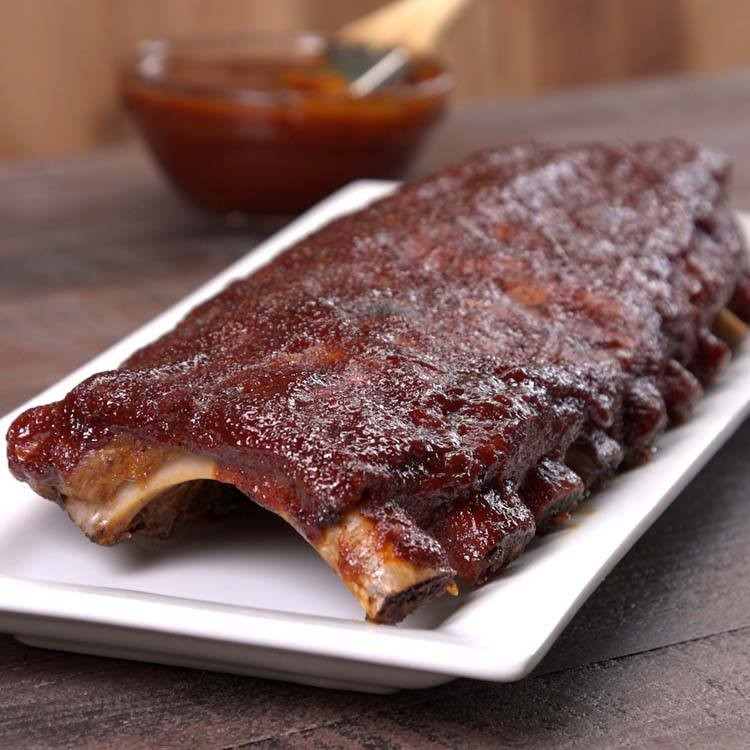 Bbq Sauce For Ribs  Baked BBQ Ribs with Dry Rub & BBQ Sauce Recipe