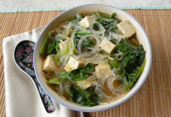 Bean Thread Noodles  Tofu Ve able Soup with Bean Thread Noodles