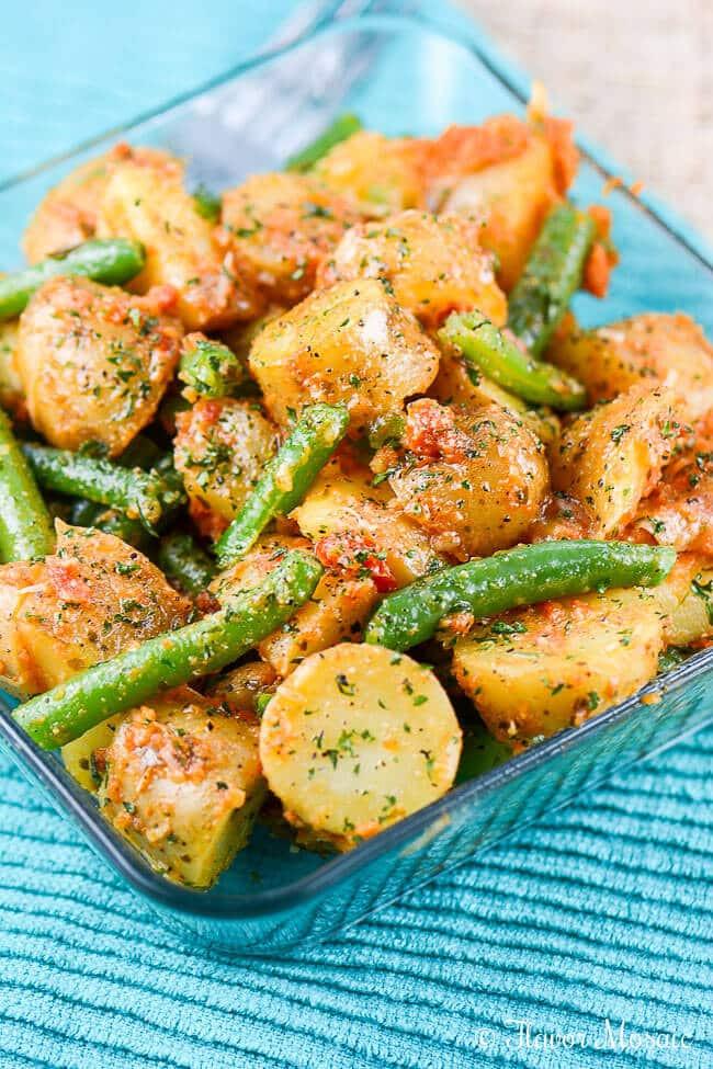 Beans Greens Potatoes  potato green bean tomato salad