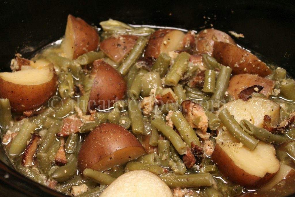 Beans Greens Potatoes  Southern Green Beans with Smoked Turkey