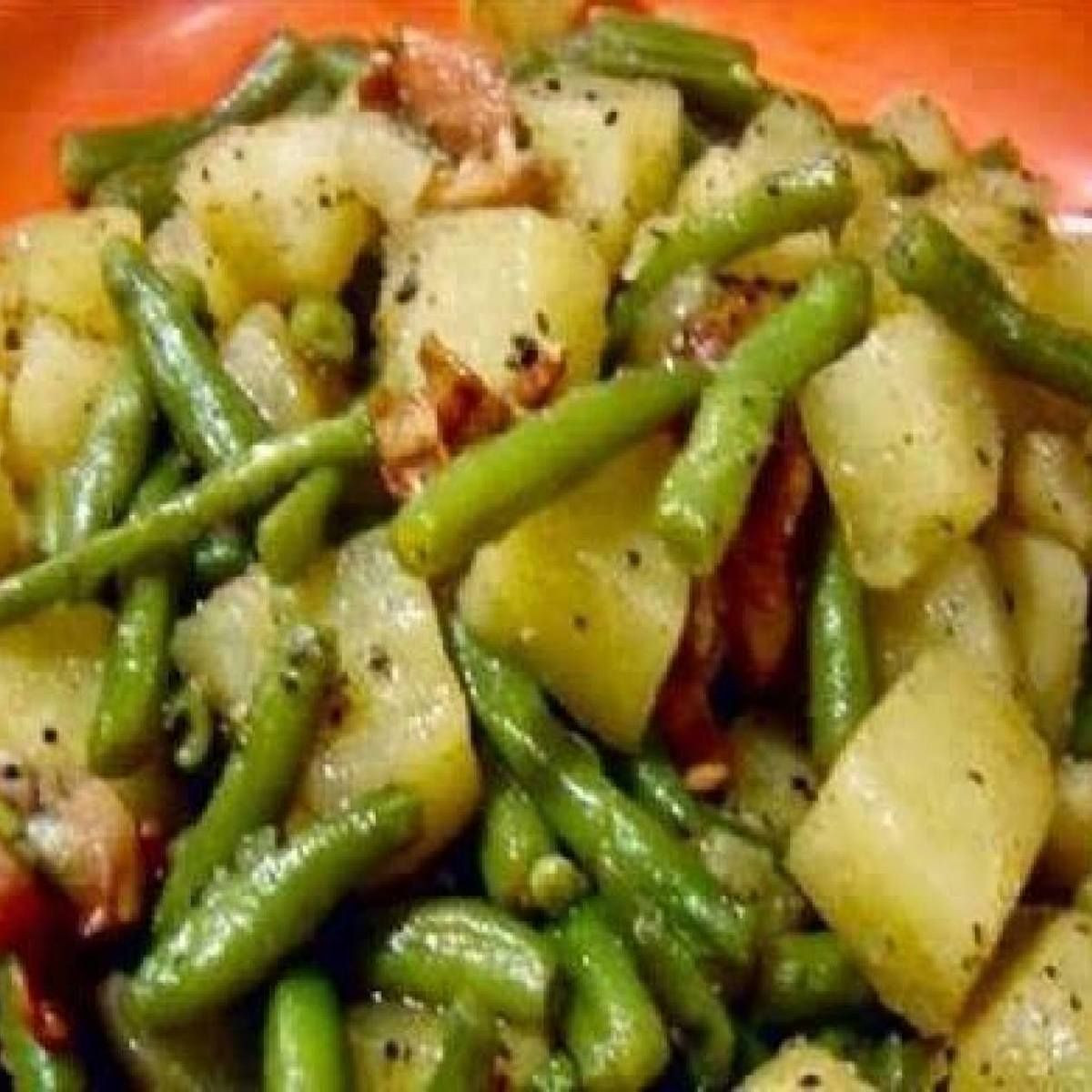 Beans Greens Potatoes  canned green beans with ham hock