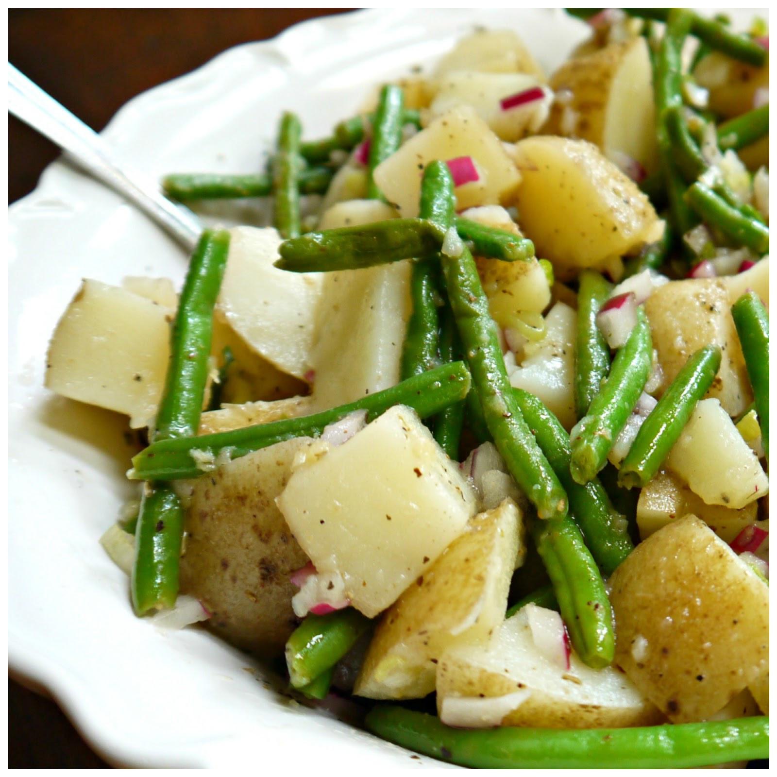 Beans Greens Potatoes  Sweet Little Bluebird Potato and Green Bean Salad